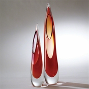 Global Views Stalagmite Vase-Fire-Small