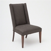 Global Views Straight Wing Side Chair-Covered in Muslin