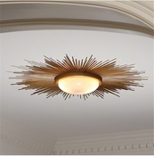 Global Views Sunburst Light Fixture-Gold