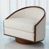 Global Views Swivel Chair-Muslin