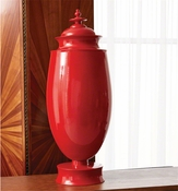 Global Views Tabernacle Jar-Crimson Red