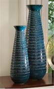 Global Views Tall Graffiti Vase-Cobalt-Large