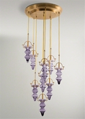 Global Views Tea Light Chandelier-Purple