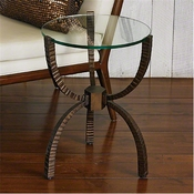Global Views Teton Accent Table-Bronze