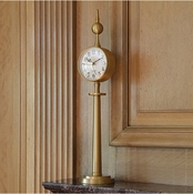 Global Views Tower Clock-Brass