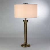 Global Views Tri Lamp-Soft Brass