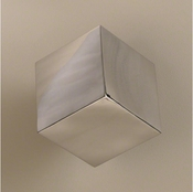 Global Views Tumbling Block Wall Cube-Stainless Steel