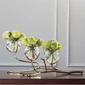 Global Views Twig 3 Vase Holder-Brass