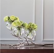 Global Views Twig 3 Vase Holder-Nickel