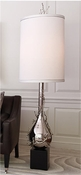 Global Views Twig Bulb Floor Lamp-Nickel