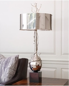 Global Views Twig Bulb Lamp-Nickel