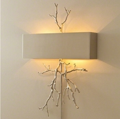 Global Views Twig Hardwired Wall Sconce-Nickel