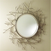 Global Views Twig Mirror-Nickel
