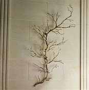 Global Views Twig Wall Art-Brass