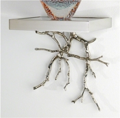 Global Views Twig Wall Bracket-Nickel