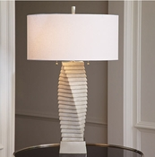 Global Views Twisted Marble Lamp