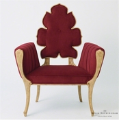 Global Views Wiggle Chair-Merlot