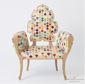 Global Views Wiggle Chair-Muslin