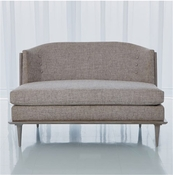 Global Views X Back Loveseat-Muslin