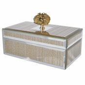 Gold Geode Striped Glass Box - Med