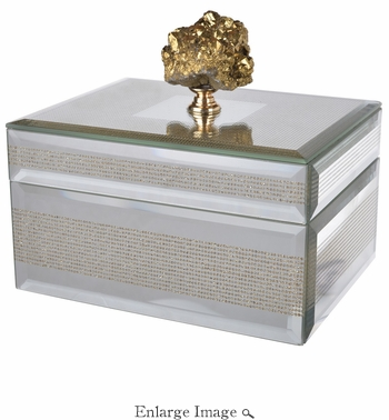 Gold Geode Striped Glass Box Small - SPECIAL OFFER