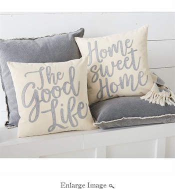 SOLD OUT Good Life Canvas & Felt Pillows Set of 2