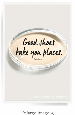 Good Shoes Take You Places Crystal Oval Paperweight