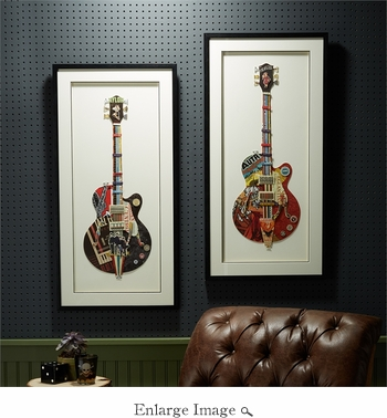 Guitar Collage Wall Set Of 2
