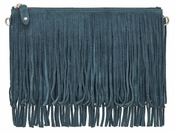Handbag Butler Mighty Purse Fringe - Blue - CLOSEOUT