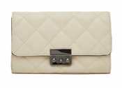 Handbag Butler Mighty Purse Quilted Wallet Bag - Ivory