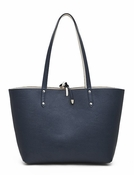Handbag Butler Mighty Purse Reversible Tote - Navy & Cream