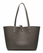 Handbag Butler Mighty Purse Reversible Tote - Pewter & Light Taupe - CLOSEOUT