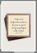 I Choose To Start With Cocktails Copper & Glass Coasters 4 Pc Set