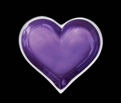 Inspired Generations February Amethyst Heart With Heart Spoon