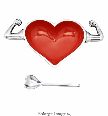 Inspired Generations Heart Healthy Bowl with Spoon