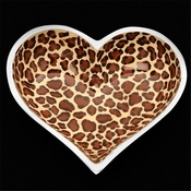 Inspired Generations Leopard Lil Heart Decorative Dish with Heart Spoon