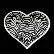 Inspired Generations Lil Zebra Heart Dish with Heart Spoon