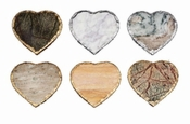 Inspired Generations Love Heart Marble 6 Pc Coaster Set