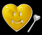 Inspired Generations Pauli Smiley Heart Yellow Spoon