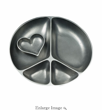 Inspired Generations Serving Peace Platter With Heart Bowl