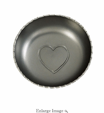 Inspired Generations Silver Heart Salad Bowl
