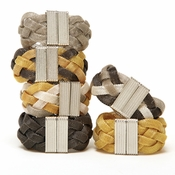 Intertwined Mesh Bracelet With Magnetic Closure (6 Colors)