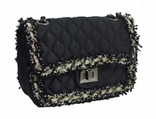 SOLD OUT Inzi Designer Bag: Classic Black Quilted Crossbody