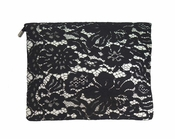 Inzi Designer Bag: Lace Stella Clutch