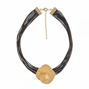 Italian Gold Medallion Necklace