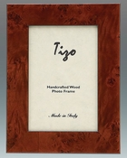 Tizo Italian Wood Frame Brown Double Verticle 4x6