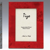 Tizo Italian Wood Frame Red 5x7