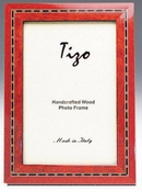 Tizo Italian Wood Frame Red 8X10