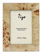 Tizo Italian Wood Frame Tan Double Verticle 4x6