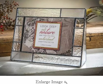 J Devlin Art Glass 4x6 Horiz Picture Frame Clear Textures